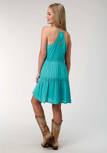 Roper Turquoise Sleeveless Dress   Dry