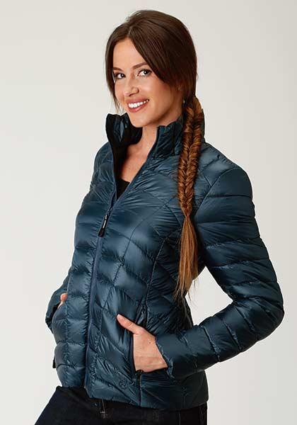 Roper Dark Teal Parachute Nylon Jacket