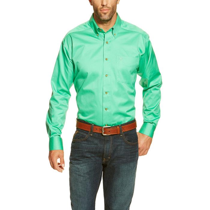 b43c6132 Ariat® Green Bean Solid Twill Shirt | Dry Creek Western Wear