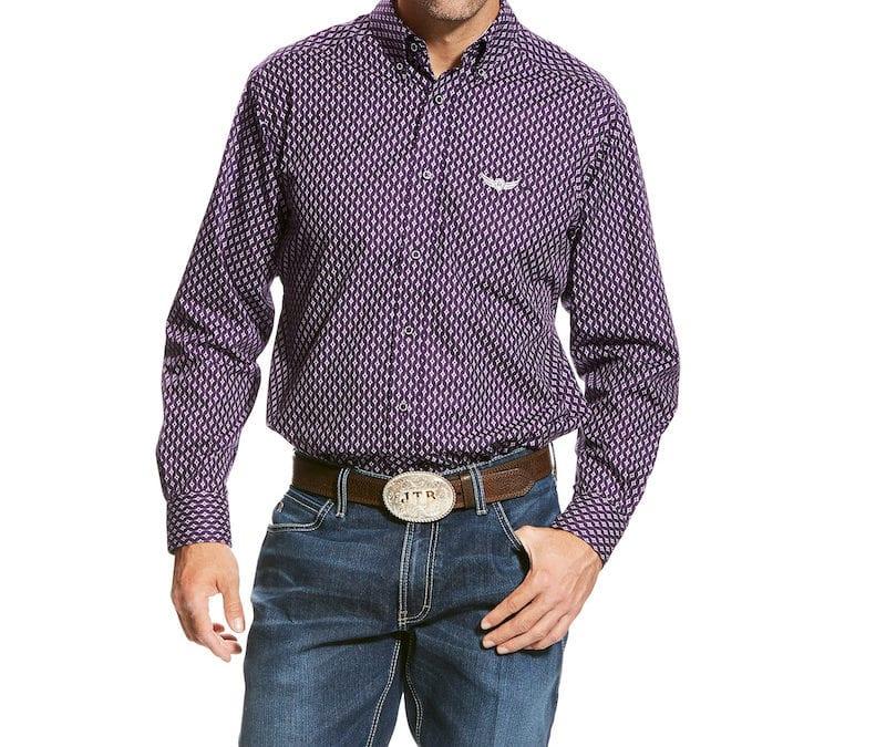 Ariat® Purple Tonic Relentless Strength Long Sleeve Print