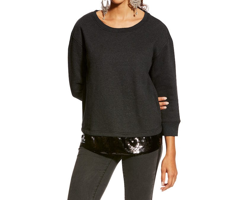 Ariat® Heather Charcoal Dazzle Pullover