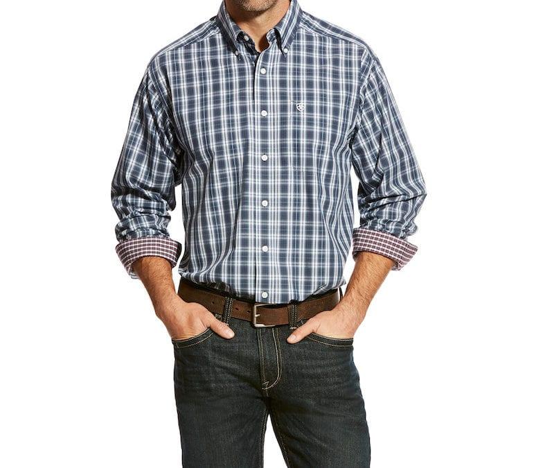 Ariat® Beatroute Wrinkle Free Zender Plaid Shirt