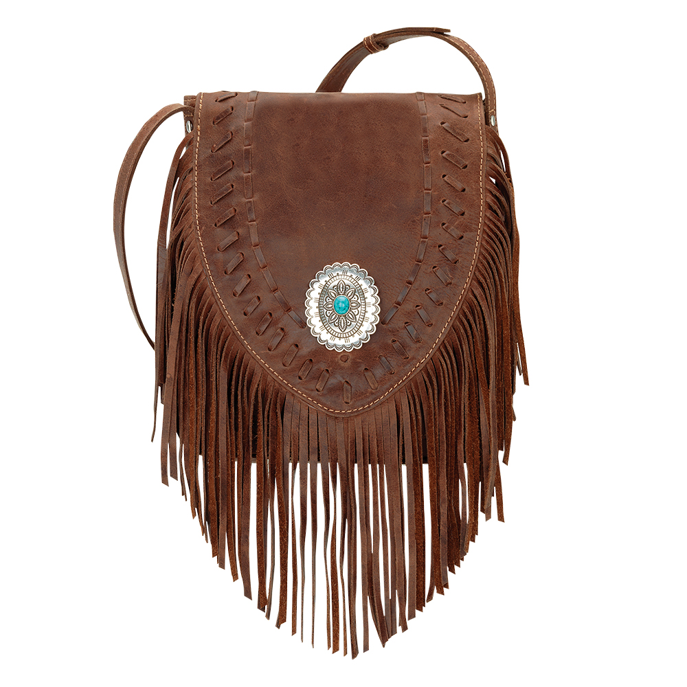 American West Seminole Soft Crossbody Fringe Bag