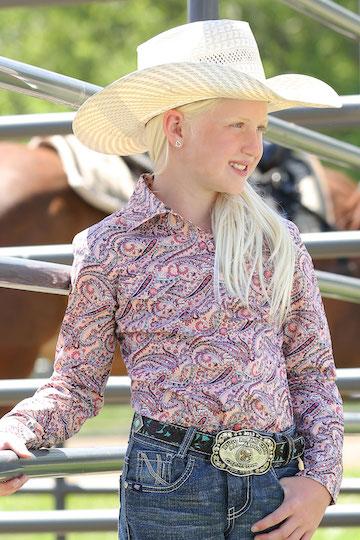 Cruel Girls Coral Paisley Print Snap Western Shirt