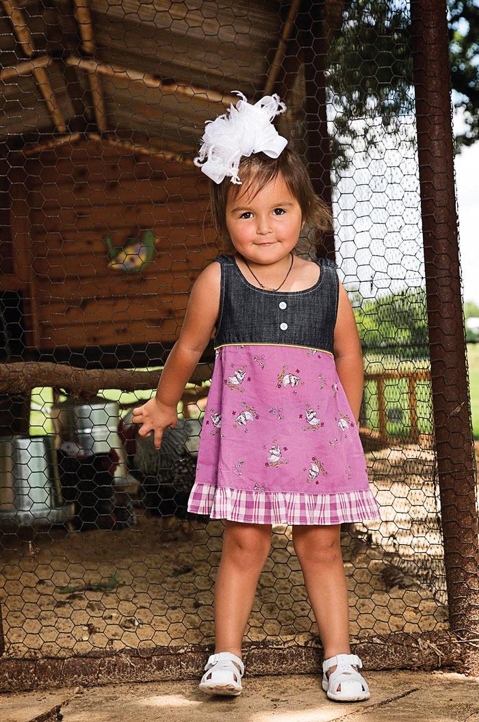 7eed1055a Wrangler® All Around Baby® Purple/Denim Girls Dress | Dry Creek ...