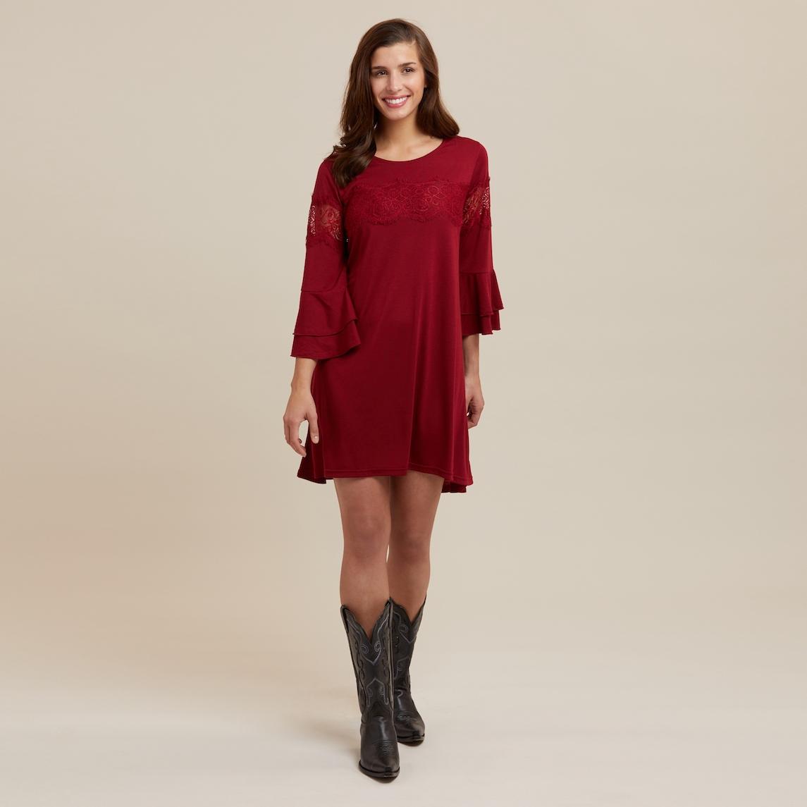 eaecaa3ee15e Wrangler® Wine Western Fashion Dress