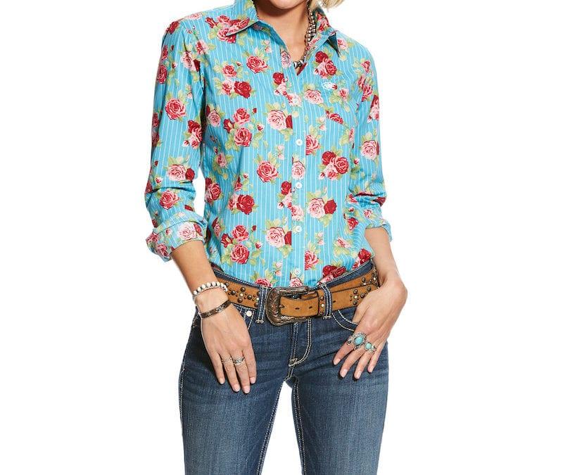 Ariat® Rose Print Kirby Stretch Shirt