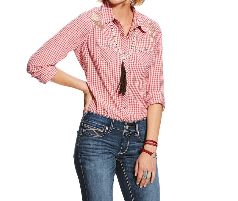 Ariat® Hibiscus Real Authentic Snap Shirt