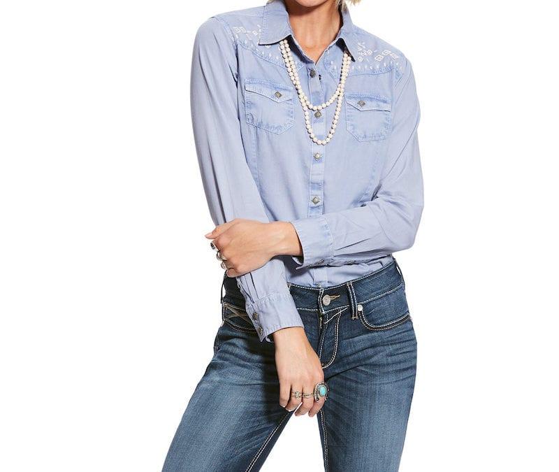 Ariat® Indigo Fade Real Brilliant Snap Shirt