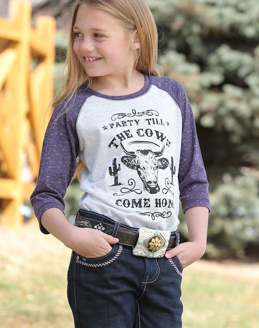 "Cruel Girls ""Party Till The Cows Come Home"" Baseball Tee"