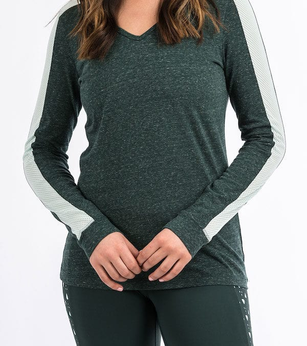 Cinch Forest Green Heather Top