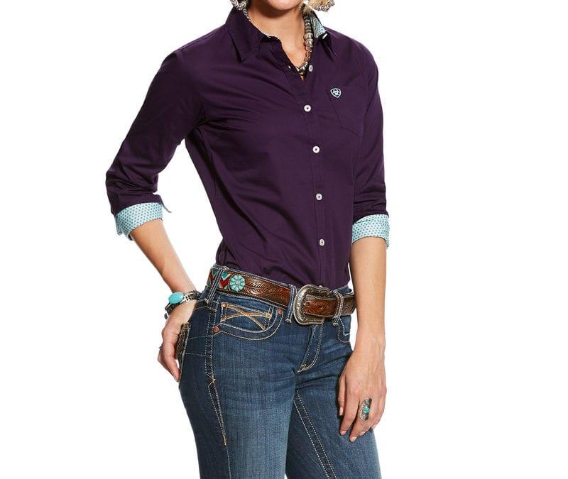 Ariat® Purple Pennant Kirby Stretch Shirt