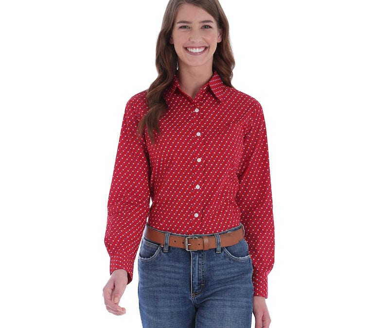 Wrangler® George Strait for Her Red Star Shirt