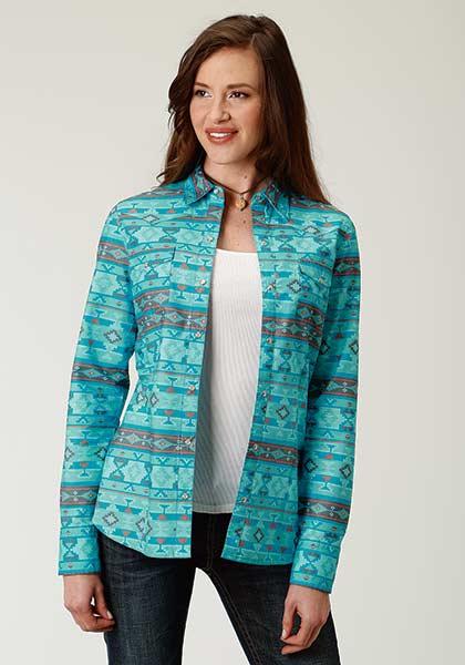 Roper® Blue Horizon Aztec Snap Shirt