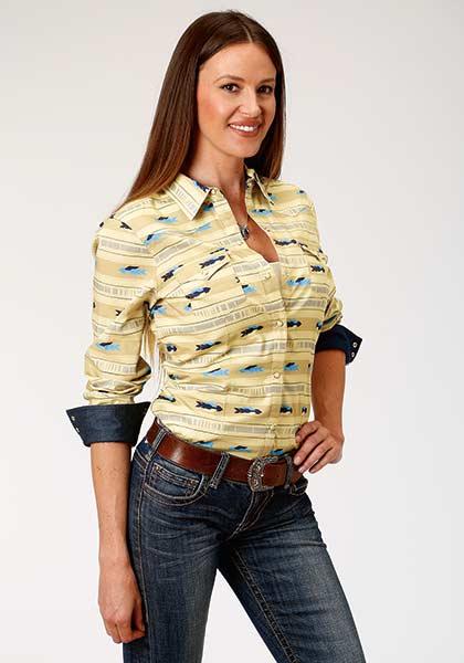 Roper® Cloudy Sunset Ladies Snap Shirt