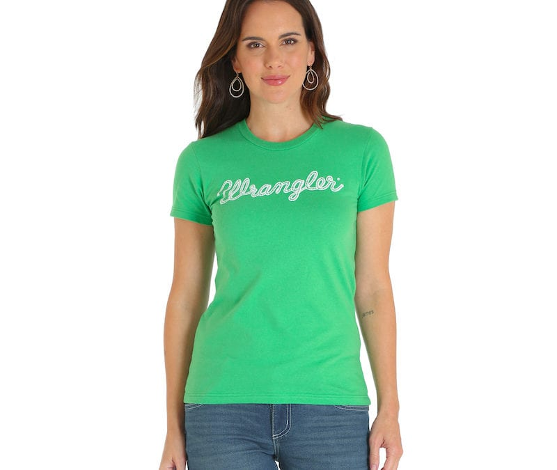 Wrangler® Green Western Fashion Top