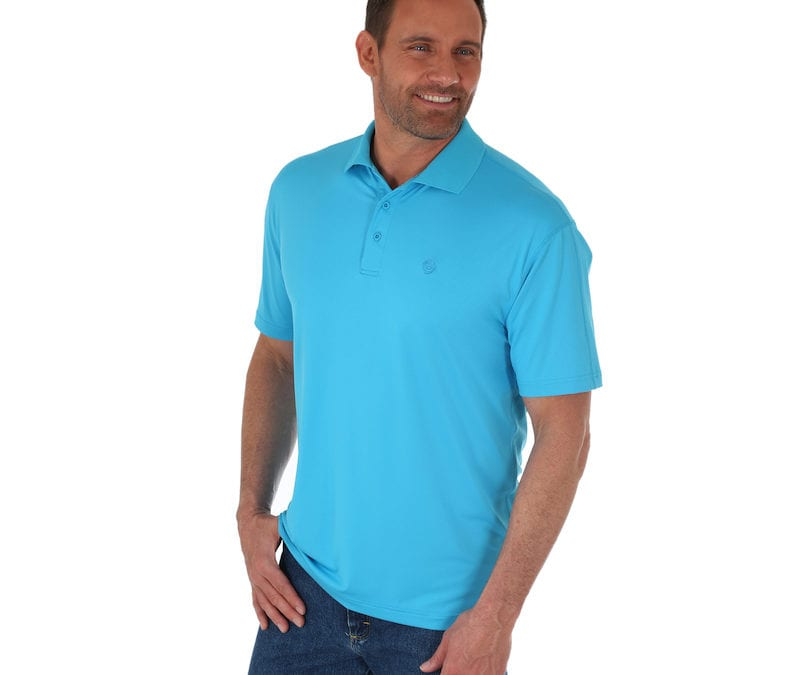 Wrangler® Sky Blue George Strait Performance Polo Shirt
