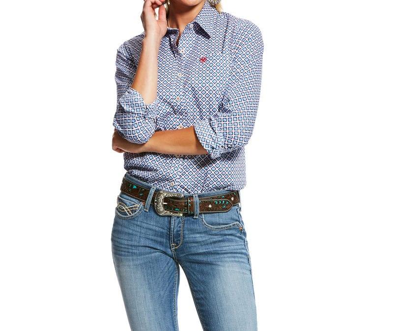 Ariat® Classic Blue Print Kirby Stretch Shirt