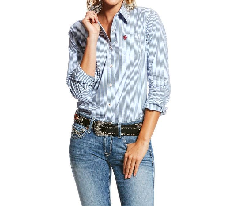 Ariat® Classic Blue Stipe Kirby Stretch Shirt