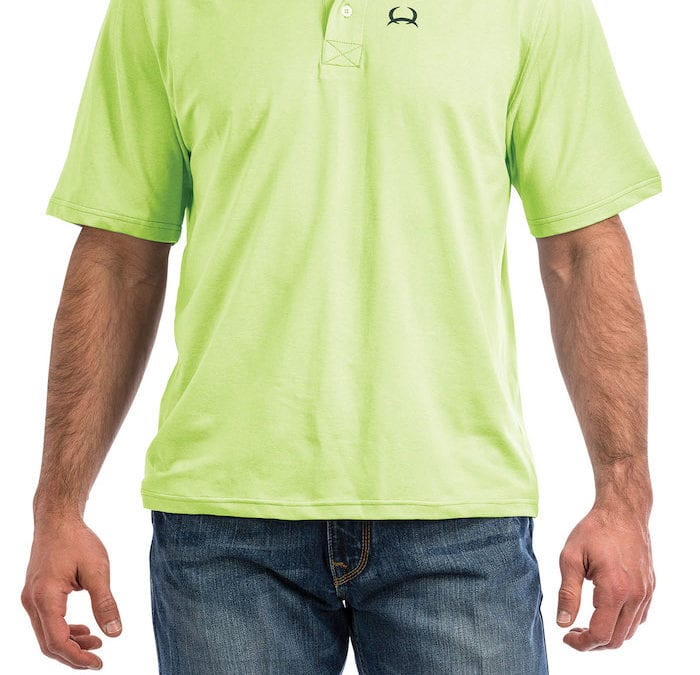 Cinch® Two Tone Lemon Lime Green ArenaFlex Polo Shirt