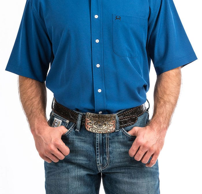 Cinch® Marine Blue ArenaFlex Short Sleeve Shirt