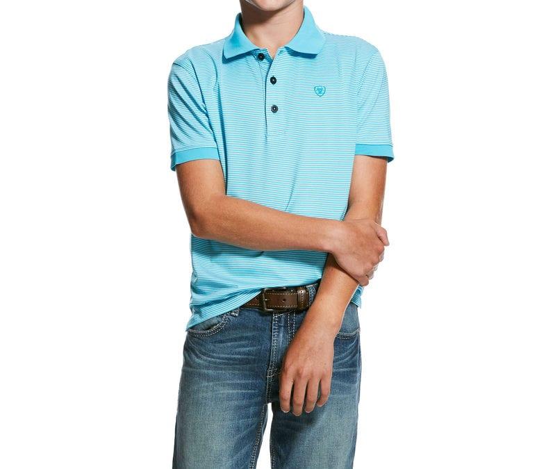 Ariat® Turquoise Reef Mini Stripe Tek Polo