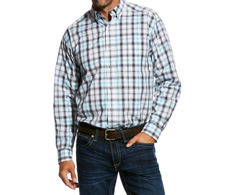 Ariat® White Mickler Long Sleeve Performance Shirt