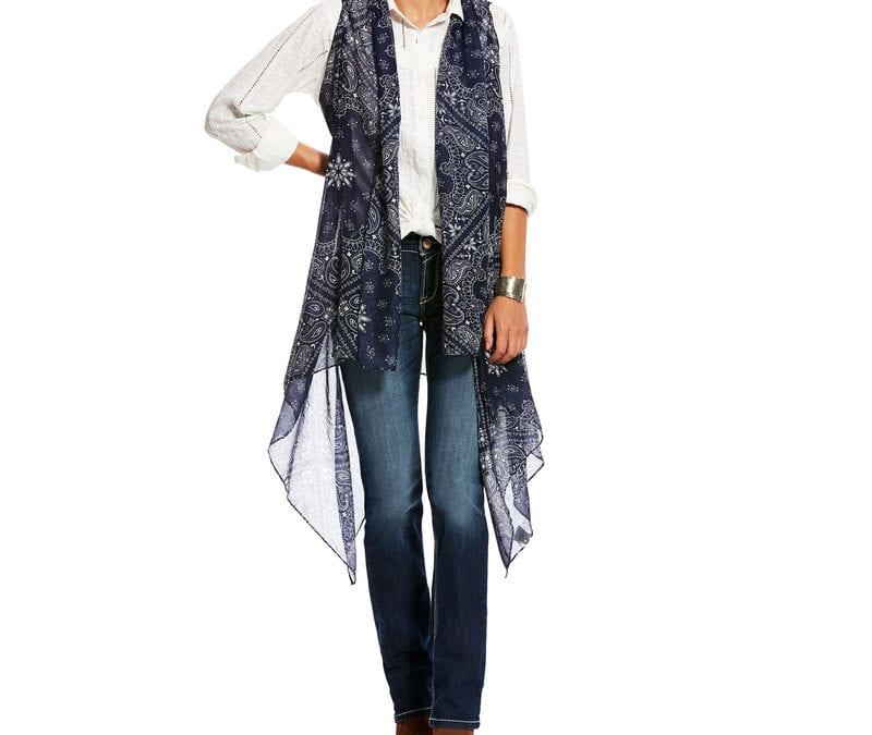 Ariat® Bandana Print Paisley Scarf Vest