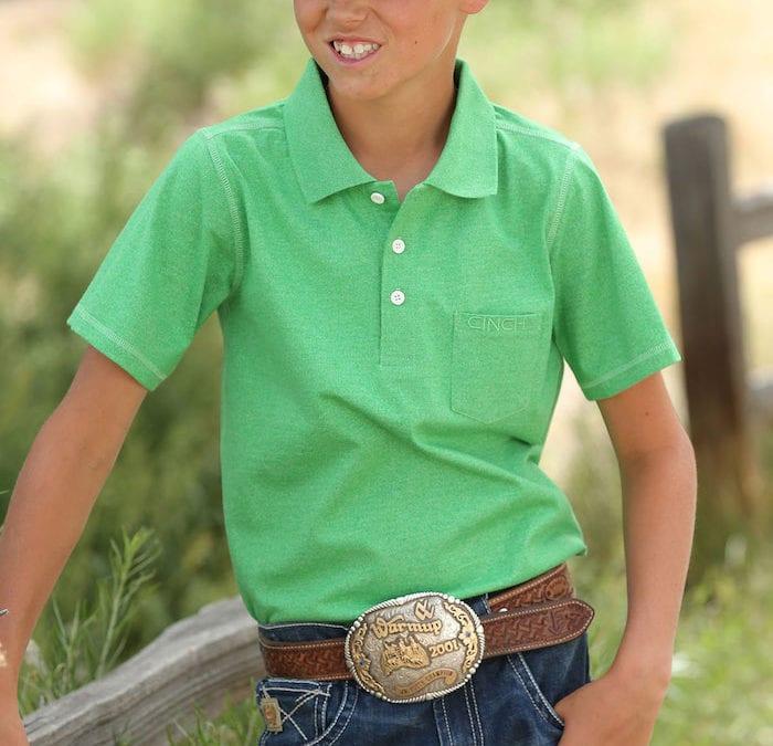 Cinch Heather Green Polo Shirt