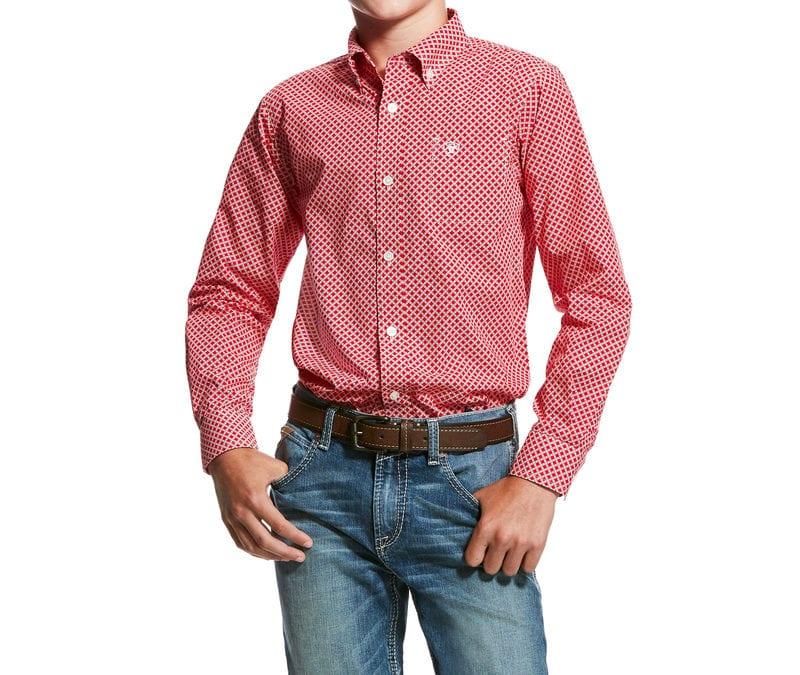 Ariat® Crimson Flame Garry LS Print Shirt