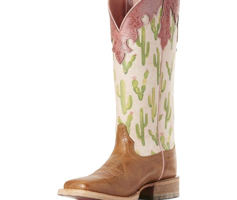 Ariat® Dark Tan/Cactus Print Fonda Boot