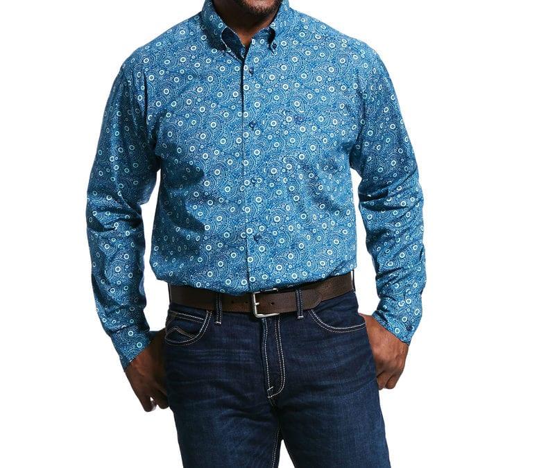 Ariat® Multi Ridgecrest Print LS Shirt
