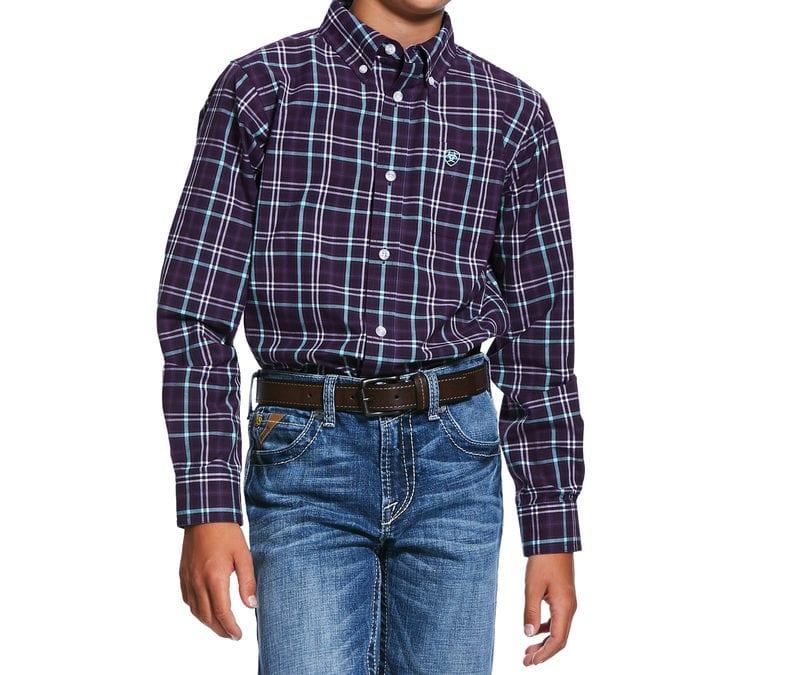 Ariat® Berry Grape Pro Riverview LS Shirt