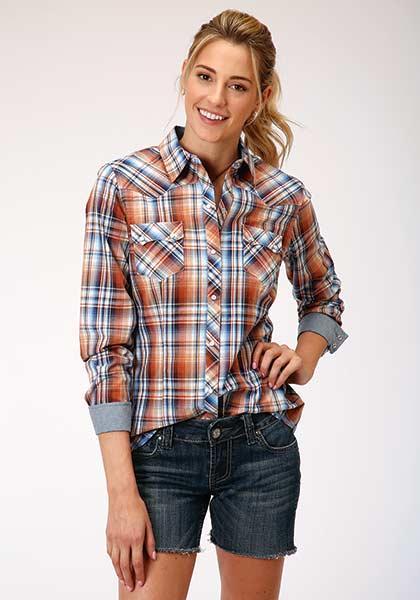 Roper® Meadow Plaid Long Sleeve Shirt